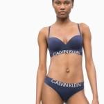 Dámská podprsenka QF5182E-8SB tmavě modrá – Calvin Klein