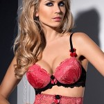 Dámská push-up podprsenka Axami V-4851 Berry Mousse