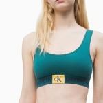 Sportovní podprsenka QF4918E-ZAY zelená – Calvin Klein