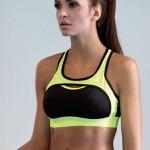 Fitness podprsenka Nela neonově žlutá