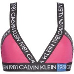 Podprsenka bez kostice QF5447E-8ZK růžovočerná Calvin Klein
