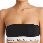Calvin Klein Podprsenka Bandeau Black