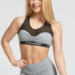 Gym Glamour Podprsenka Grey Mesh