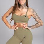 Gym Glamour Podprsenka Seamless Combat Khaki