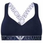 Bralette podprsenka 163995 1P227 00135 námořnická modrá – Emporio Armani