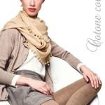 Hladké dámské bavlněné punčochové kalhoty LAURA 081